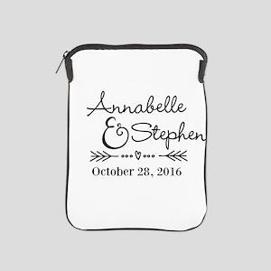Couples Names Wedding Personalized iPad Sleeve