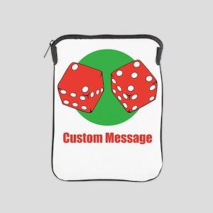 One Line Custom Dice Craps Design iPad Sleeve