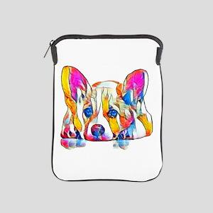 Colorful Corgi Puppy iPad Sleeve