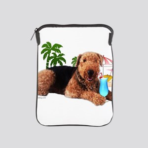 Airedale at the Beach by Vamp iPad Sleeve