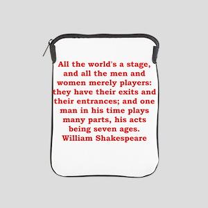 william shakespeare iPad Sleeve