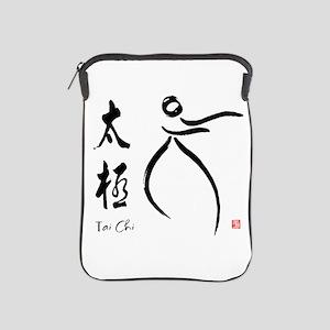 Tai Chi form and kangi iPad Sleeve