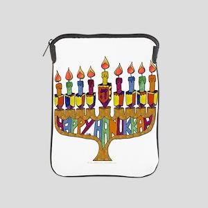 Happy Hanukkah Dreidel Menorah iPad Sleeve
