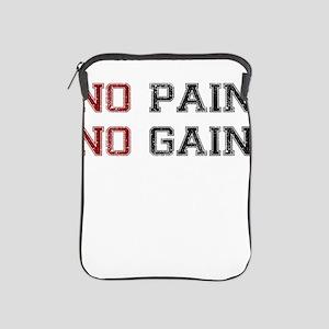 NO PAIN NO GAIN TWO COLOR iPad Sleeve