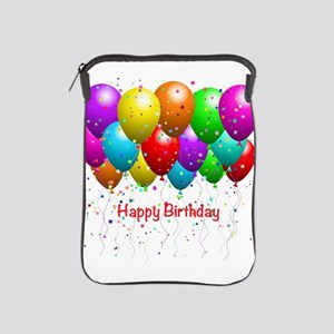 Happy Birthday Balloons iPad Sleeve