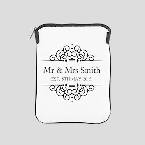 Custom Couples Name and wedding date iPad Sleeve