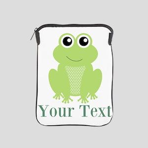 Personalizable Green Frog iPad Sleeve