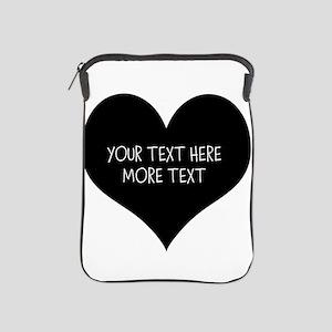 Black heart iPad Sleeve