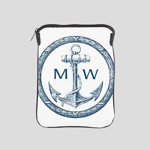Anchor, Nautical Monogram iPad Sleeve