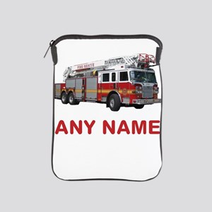 FIRETRUCK with Any Name or Text iPad Sleeve