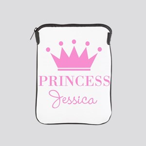 Personalized pink princess crown iPad Sleeve