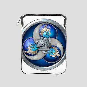 Blue Norse Triple Dragons iPad Sleeve