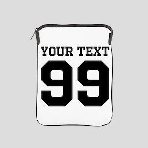Custom Sports Jersey Number iPad Sleeve