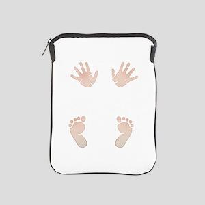 Baby_Hands_and_Feet_Maternity_Exc1 iPad Sleeve