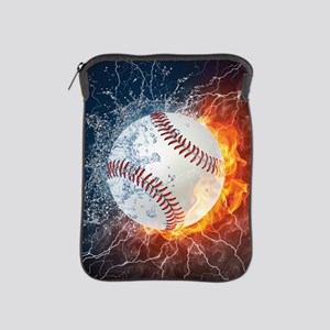 Baseball Ball Flames Splash iPad Sleeve