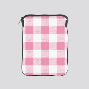 Pink Gingham Pattern iPad Sleeve