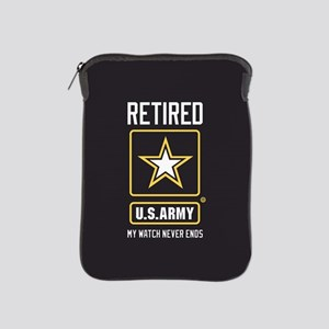 US Army Retired Watch Never Ends iPad Sleeve