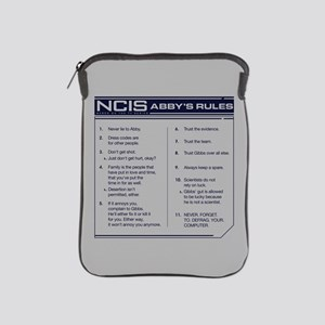 NCIS Abby's Rules iPad Sleeve
