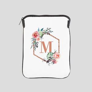 Chic Floral Wreath Monogram iPad Sleeve