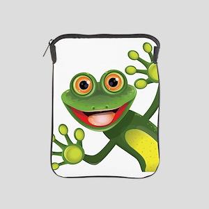 Happy Green Frog iPad Sleeve