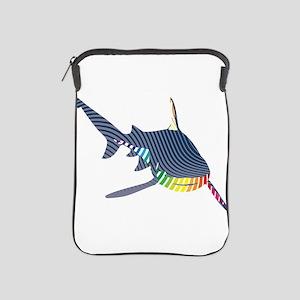 color swirl shark iPad Sleeve