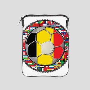 Belgium Flag World Cup Footba iPad Sleeve