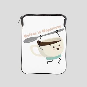 Coffee Is Happiness iPad Sleeve