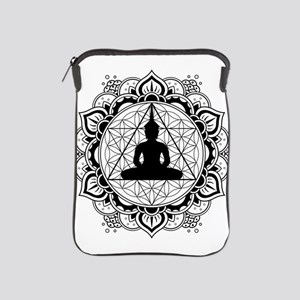Buddha Meditating Sacred Geometry Mandala iPad Sle