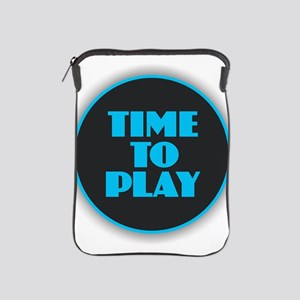Time to Play - Blue iPad Sleeve