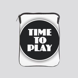 Time to Play - White iPad Sleeve