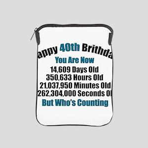 40th Birthday T-shirt iPad Sleeve