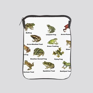 Frog and Toad Types iPad Sleeve