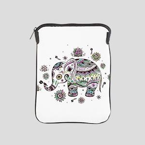 Cute Pastel Colors Floral Elephant iPad Sleeve