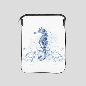 Blue Seahorse iPad Sleeve