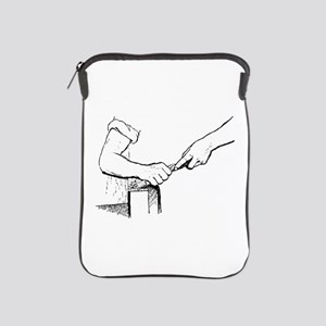 Champering against the grain iPad Sleeve