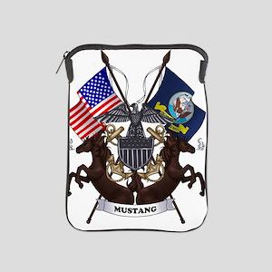 Navy Mustang Emblem iPad Sleeve