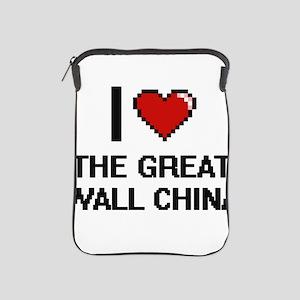 I love The Great Wall China digital de iPad Sleeve
