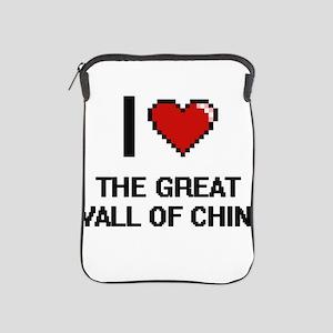 I love The Great Wall Of China digital iPad Sleeve
