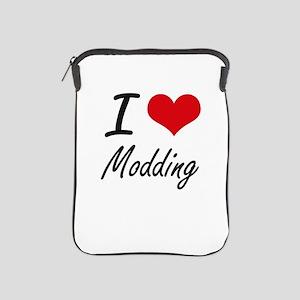 I Love Modding artistic Design iPad Sleeve