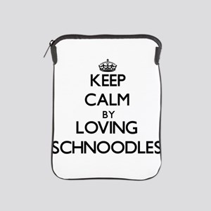 Keep calm by loving Schnoodles iPad Sleeve