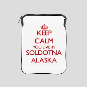 Keep calm you live in Soldotna Alaska iPad Sleeve