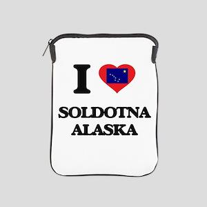 I love Soldotna Alaska iPad Sleeve