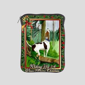 Treeing Walker Coonhound Dog Christmas iPad Sleeve