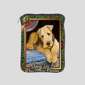 Airedale Terrier Dog Christmas iPad Sleeve