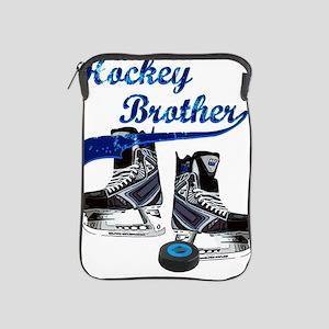 hockey_brother_dark_blue iPad Sleeve