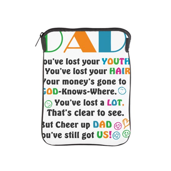 Funny Fathers Day Sayings iPad Sleeve