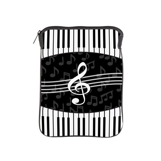 a284dd9dc93d Stylish designer piano and music notes iPad Sleeve