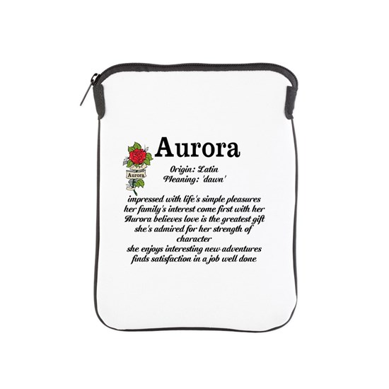 Aurora Name Meaning Design iPad Sleeve