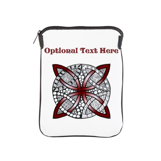 Personalizable Maroon Red Decorative Celtic Knot