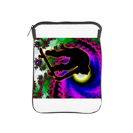 Tropical Hurricane Eye with Skateboarder